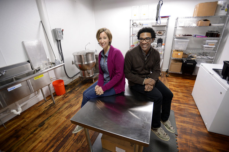 Emily Butters and Forrest Butler started Royal Rose about two years ago in Brooklyn, N.Y. They recently moved their operation to a large space in Biddeford's North Dam Mill.