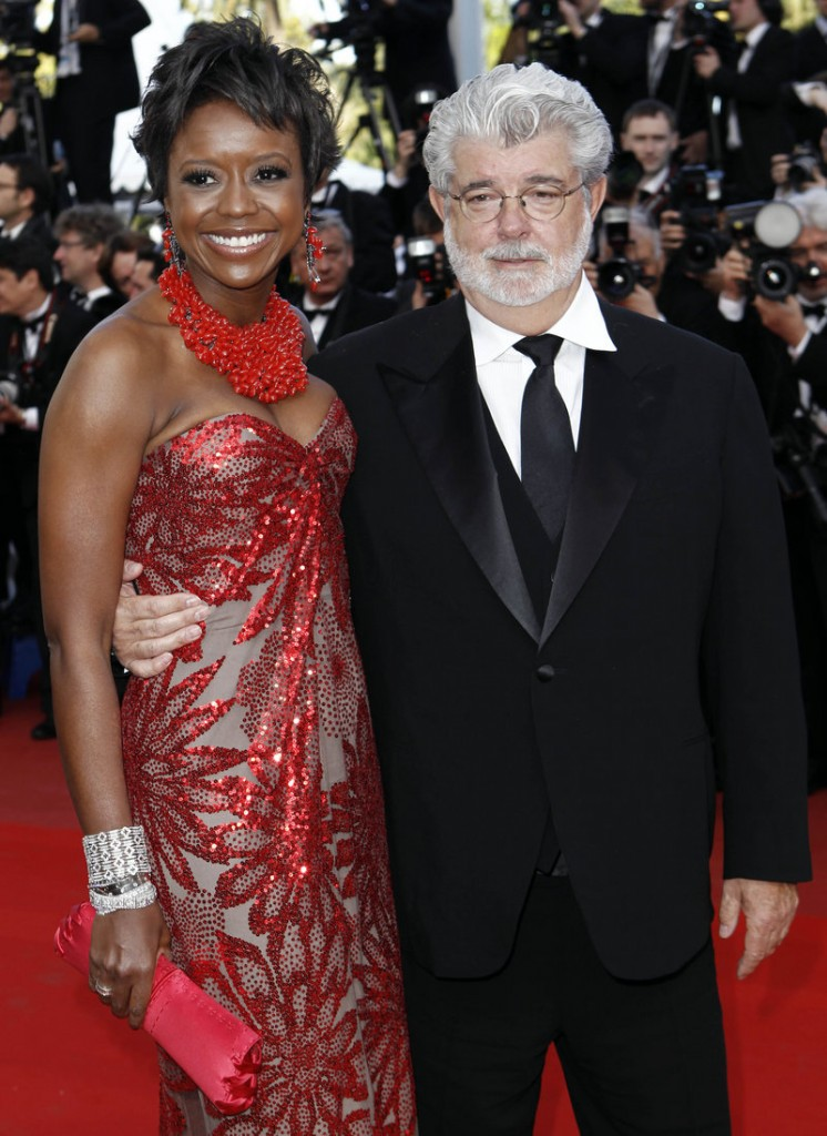 Mellody Hobson and filmmaker George Lucas arrive for a film screening in 2010 in Cannes, France. The two have announced their engagement.