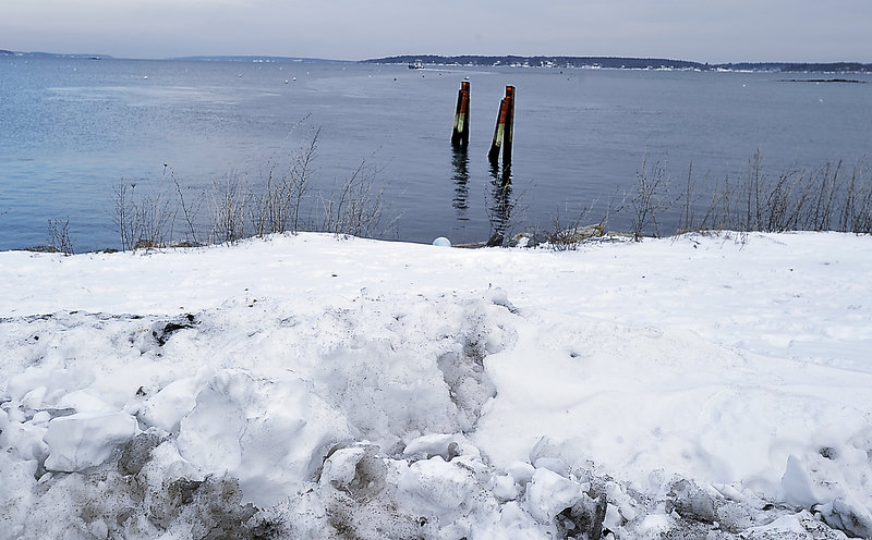 The East End boat launch on Jan. 5, 2013