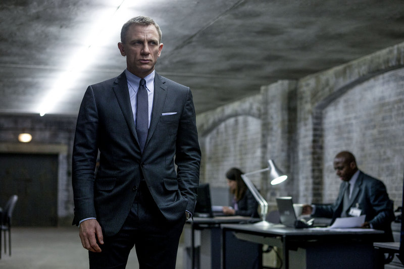 "Daniel Craig as Bond in ""Skyfall."""