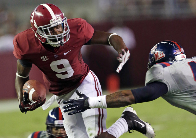 Amari Cooper, a freshman wide receiver, has nine touchdown catches this season, providing balance for an Alabama offense that boasts two 1,000-yard rushers.
