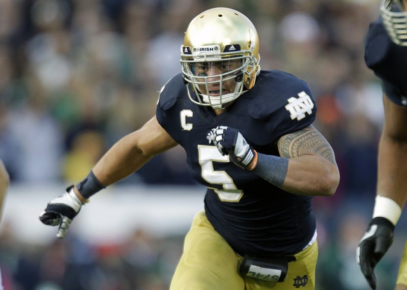 Heisman Trophy finalist Manti Te'o is the leader of a Notre Dame defense that ranks first in the nation in points allowed – just over 10 per game.