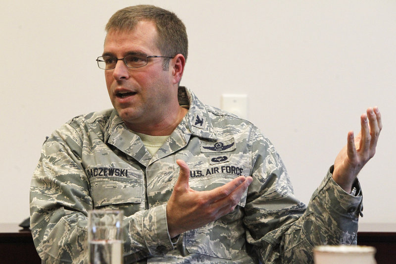 Col. David Baczewski, commander of the Vermont Guard's 158th Fighter Wing, said he fears for Vermont's future as a front-line fighter base if the Air Force decides not to bring the F-35 to the state.