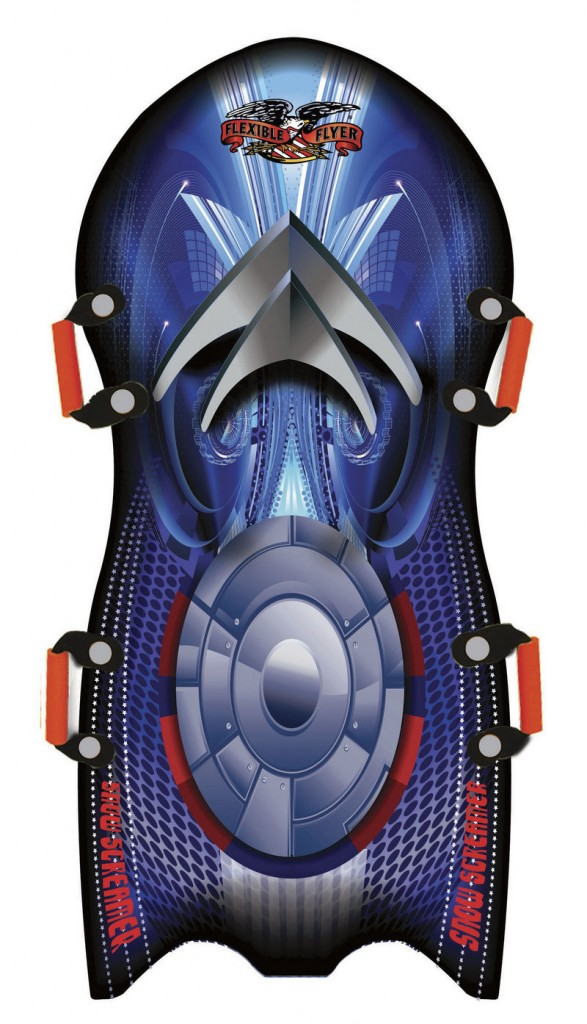 """""""Kids love the graphics"""" on foam sleds like this one, says Tom Morton of Paricon."""