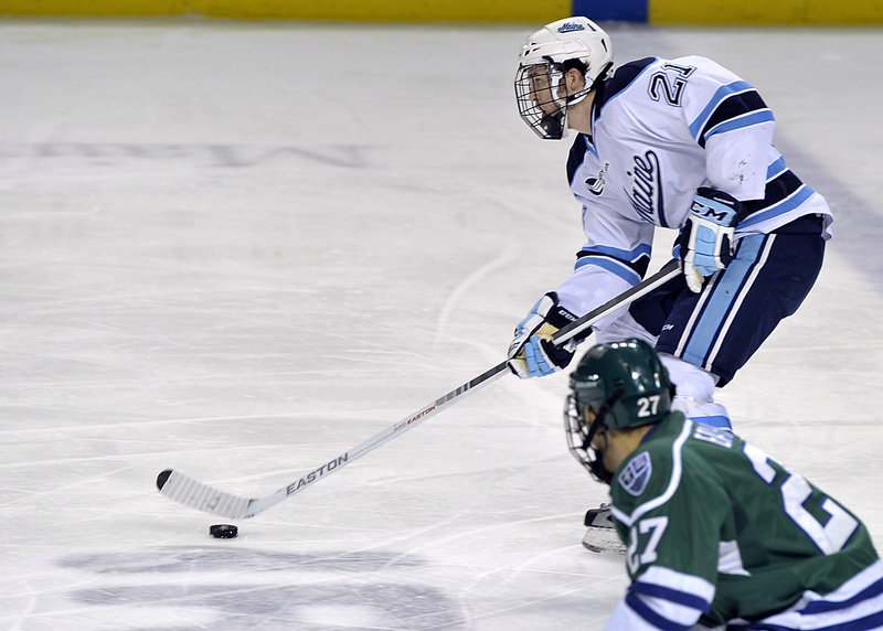 Kyle Beattie learned hockey on roller skates while growing up in Phoenix, but made the adjustment to playing on ice, and now the Black Bears may be heating up in Hockey East.