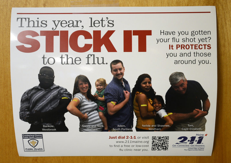 Staff Photo by Shawn Patrick Ouellette: A sign at Portland Community Health Center Thursday, Jan. 10, 2013.