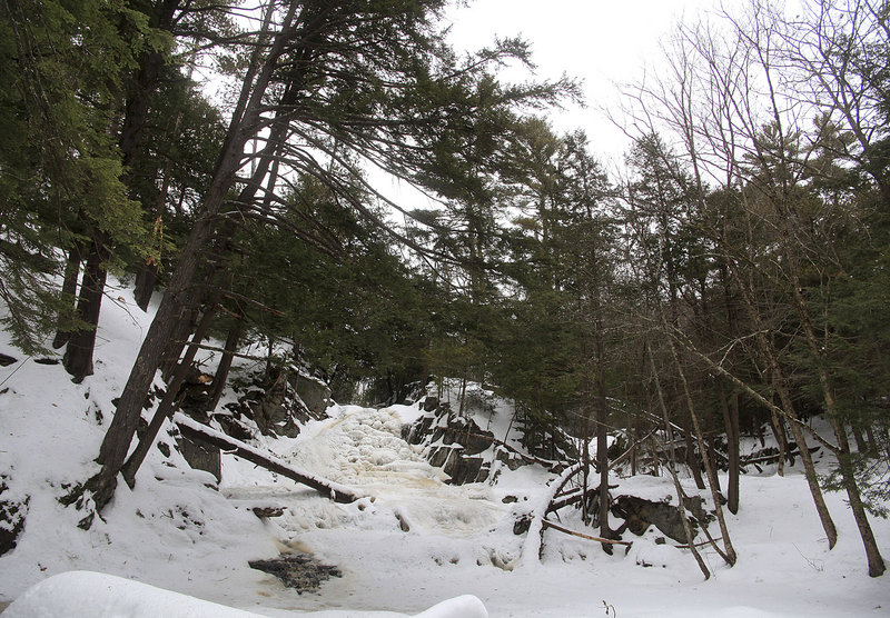 Cascade Falls has long been a popular passive recreation site in Saco and if the city consents to Monkey Trunks' proposal, could be viewed from a zip line.