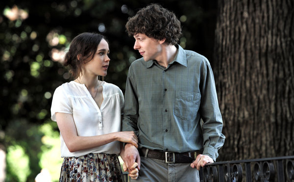 """Ellen Page and Jesse Eisenberg in """"To Rome with Love."""""""