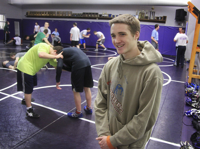 Tyler Davidson, who hopes to attend the Naval Academy, is seeking to become the second wrestler from Marshwood High to win state titles in each of his four seasons.