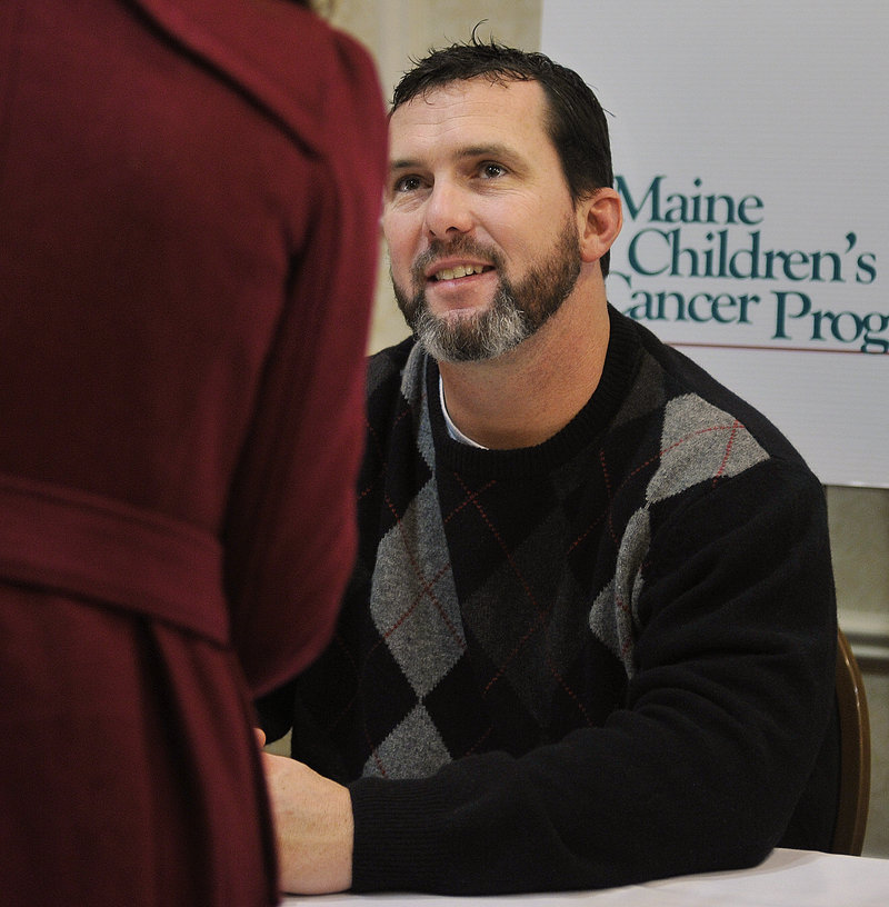 Trot Nixon was a fan favorite at the banquet. He was the right fielder for the Red Sox in 2004 when they won a World Series for the first time since 1918.