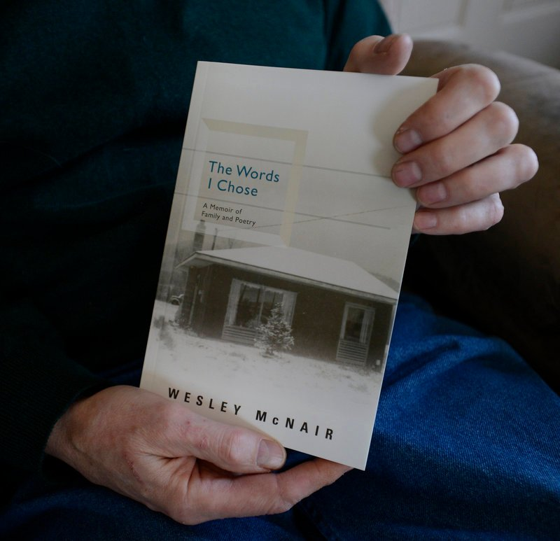 Wesley McNair with his new memoir.
