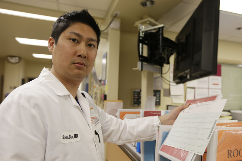 Dr. Steve Sun says he has seen an increase in energy drink-related cases in the emergency department at St. Mary's Medical Center in San Francisco.