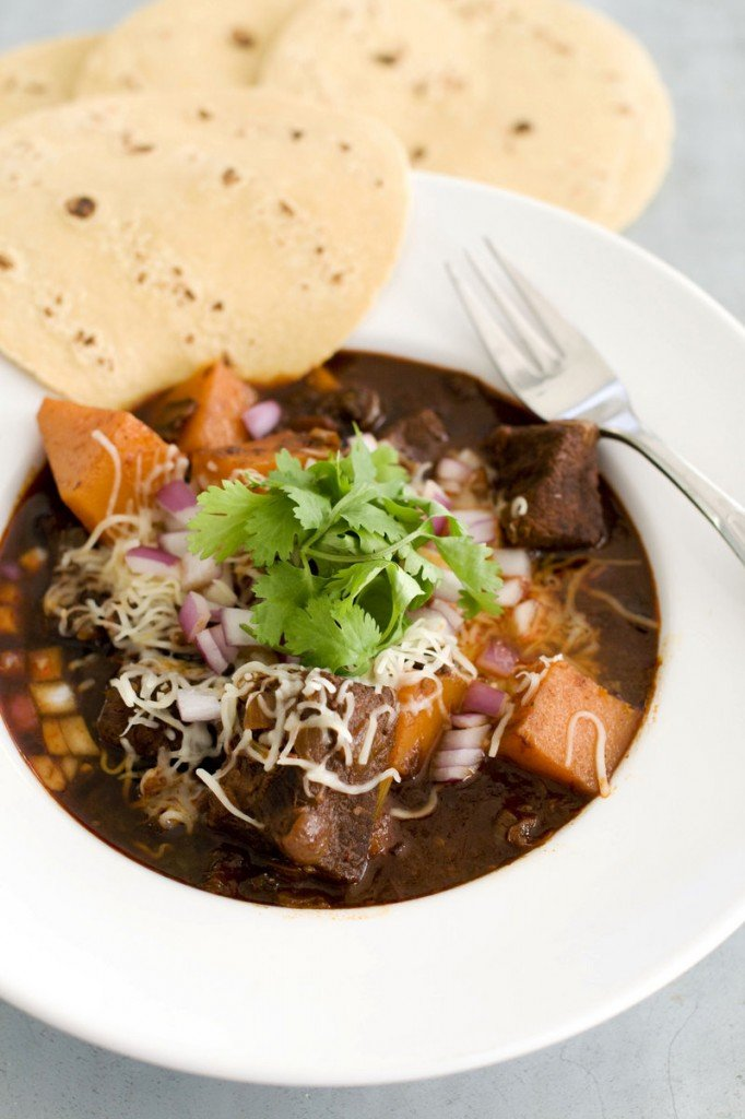 Mexican beef brisket and winter squash chili takes a cut usually known for pot-roasting or barbecue and transforms it into a meaty, chunky chili.