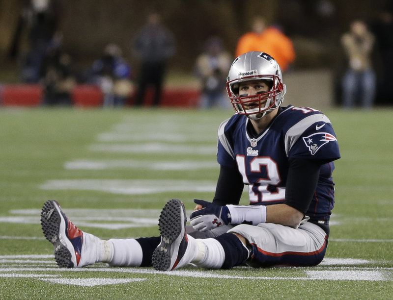 Patriots' QB Tom Brady didn't exactly sit down on the job Sunday, but the combination of a furious Baltimore defense, dropped passes by Wes Welker and a below-average performance by Brady himself precludes a trip to New Orleans.