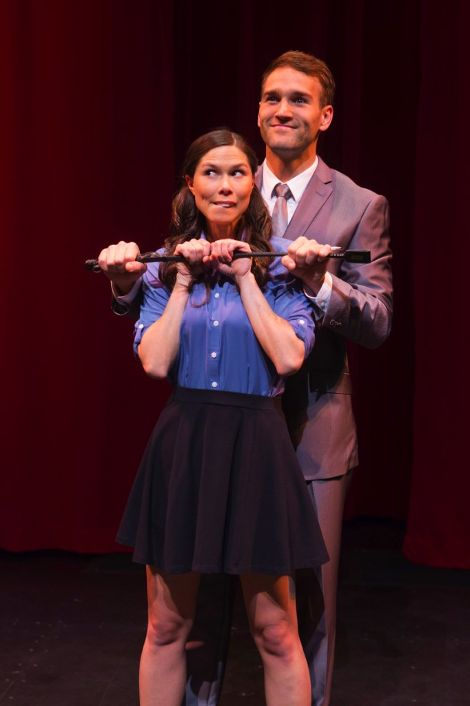 "Danielle Trzcinski and Drew Moerlein on stage in ""Spank!"" in Hartford, Conn. Trzcinski also acts in the upcoming Portland prodcution of ""Spank!"""