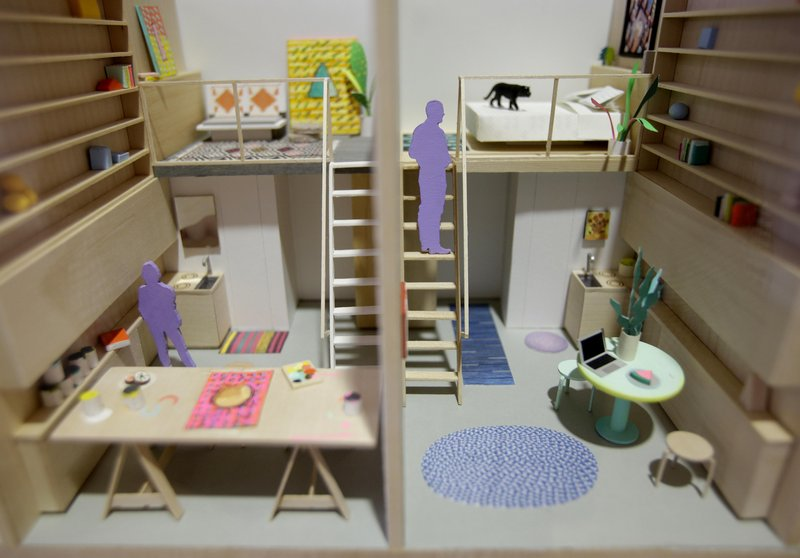 Models of micro-apartments are displayed at the Museum of the City of New York. The Big Apple's population is projected to grow by about 600,000 people by 2030, and tiny apartments could help accommodate them.