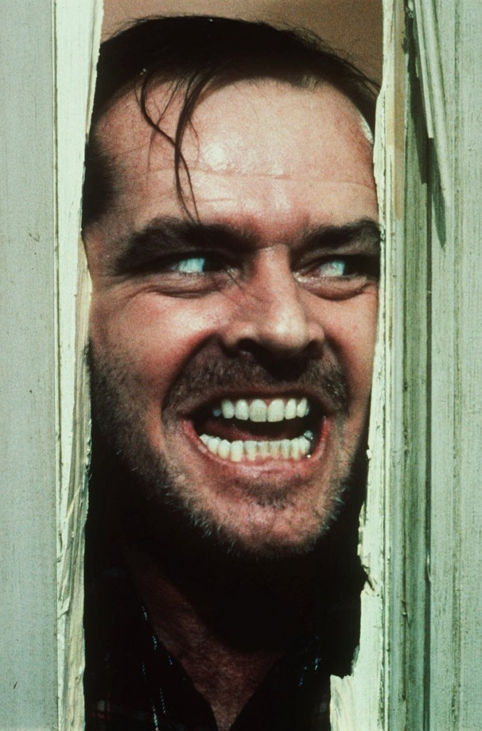 "Actor Jack Nicholson is renowned for this terror scene in ""The Shining."""