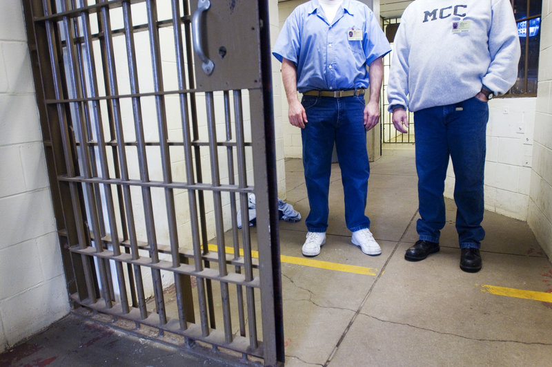 Inmates at the Maine Correctional Center in Windham. A reader questions a proposal by the governor to replace most of the buildings that make up the MCC.