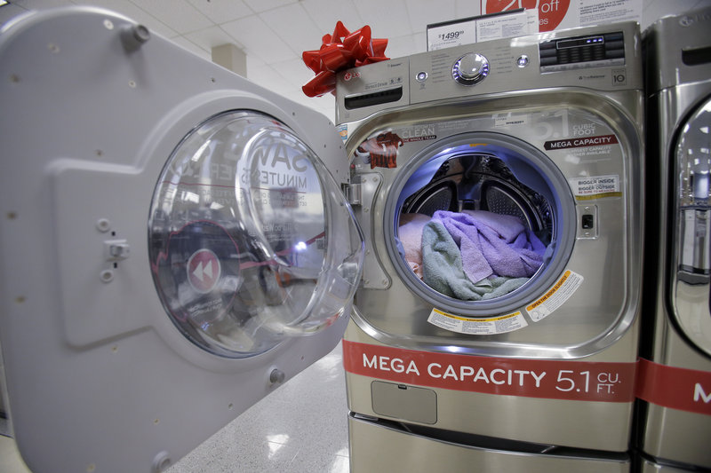 U.S. demand for long-lasting manufactured goods such as clothes dryers rose in December, led by aircraft orders.