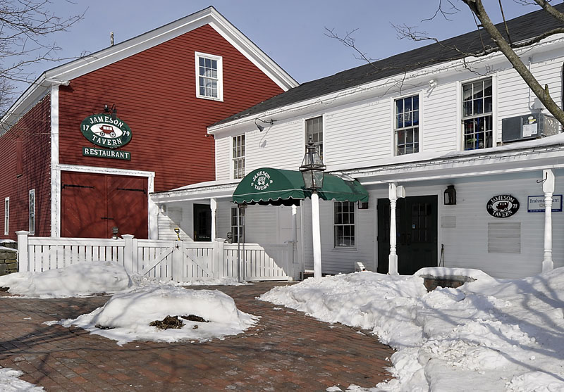 Freeport's historic Jameson Tavern, which closed suddenly this month, is up for sale.