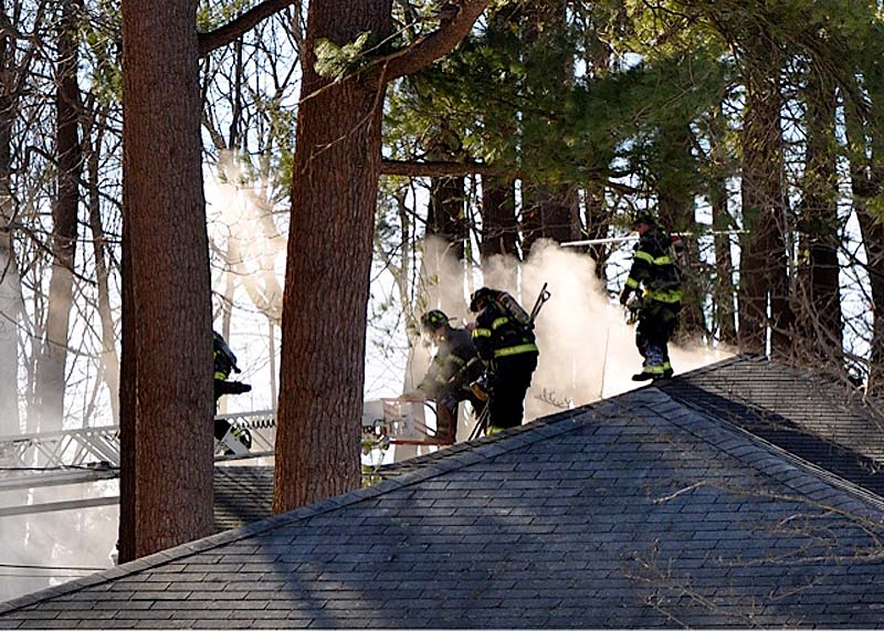 Firefighters from Portland put out a blaze in North Deering on Sunday afternoon. A woman in her 50s was badly burned and taken to the hospital, and died on Friday, Feb. 15, 2012, according to the State Fire Marshal's Office.