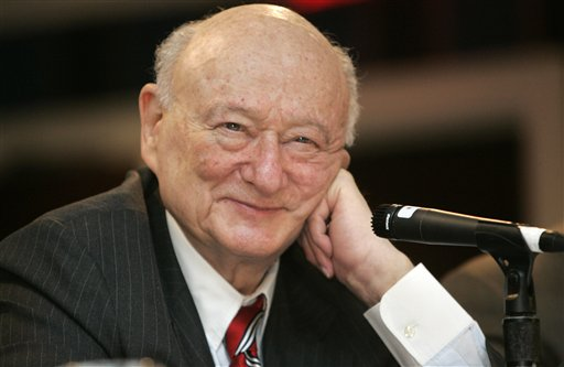 Ed Koch was a famously combative politician who rescued New York City from near-financial ruin during three terms as mayor.
