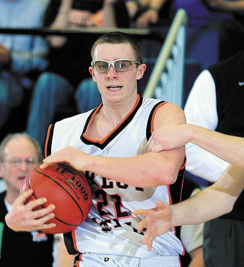 Staff file photo by Joe Phelan Forest Hills' senior Derick Ouellette is a big reason the Tigers will play in their second straight Class D state championship game on Saturday.