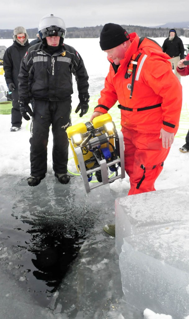 The Maine Warden Service's remotely operated vehicle is controlled from the surface with a 100 foot tether.
