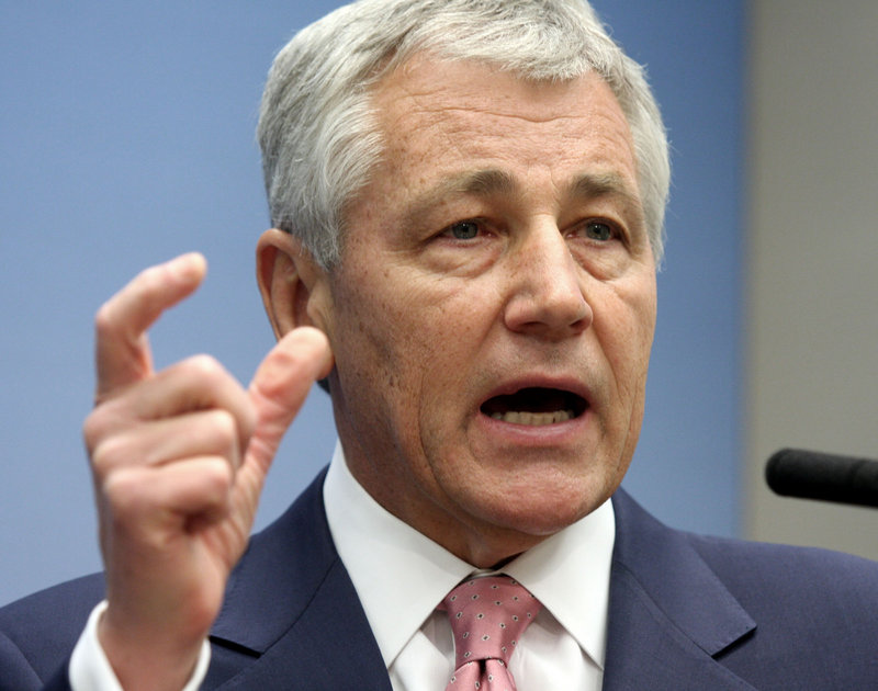 Former Republican Sen. Chuck Hagel, President Obama's nominee for Secretary of Defense