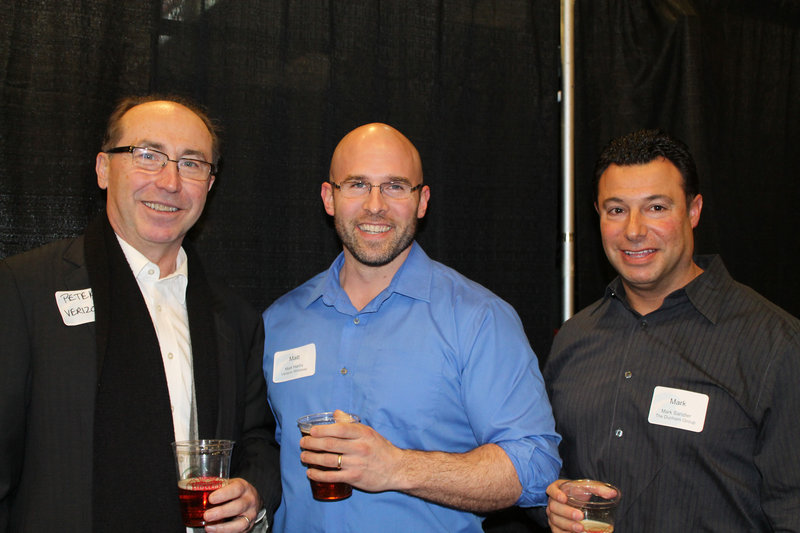 Peter Hyszczak and Matt Harris of Verizon Wireless, with Mark Sandler of The Dunham Group.