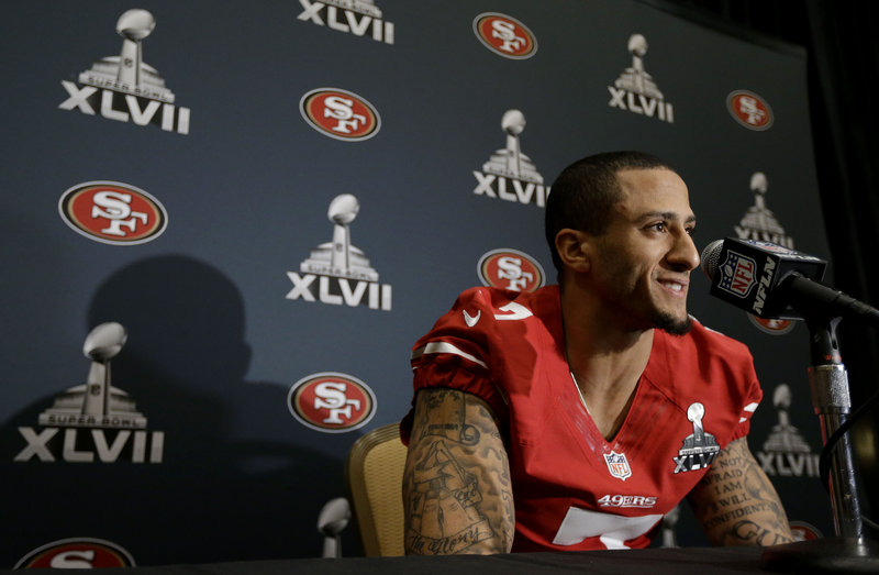Colin Kaepernick can be an engaging interview but usually prefers to let his performance do the talking even though his life story is well worth the telling.