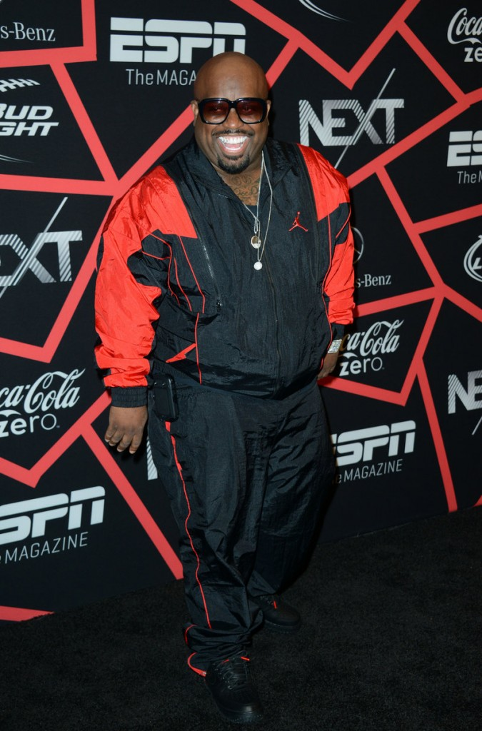 "CeeLo Green arrives at ESPN Magazine's ""Next"" party Friday night in New Orleans, as festivities got under way in earnest before the Super Bowl on Sunday."