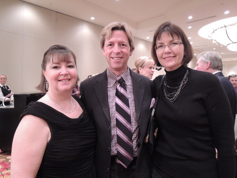 Debora Roy of Maine Ballroom Dance; and John Hatcher and Melissa Nickerson-Pratt of Keller Williams Realty. Roy and Hatcher served as two of the judges for the event.