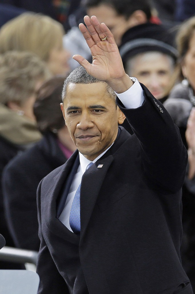 President Obama waves after delivering his Inaugural address Jan. 21. The writer of an editorial that was critical of the president should channel his energy into challenging the nation's banking system instead, a reader says.