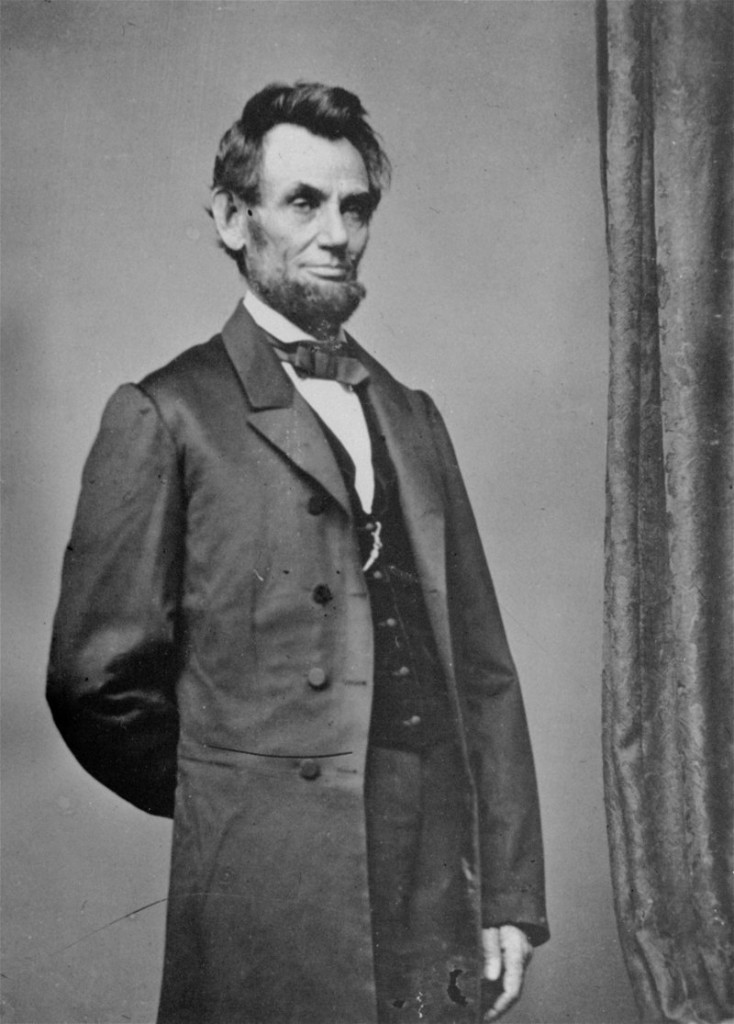 President Abraham Lincoln poses for a portrait in this undated file photo.
