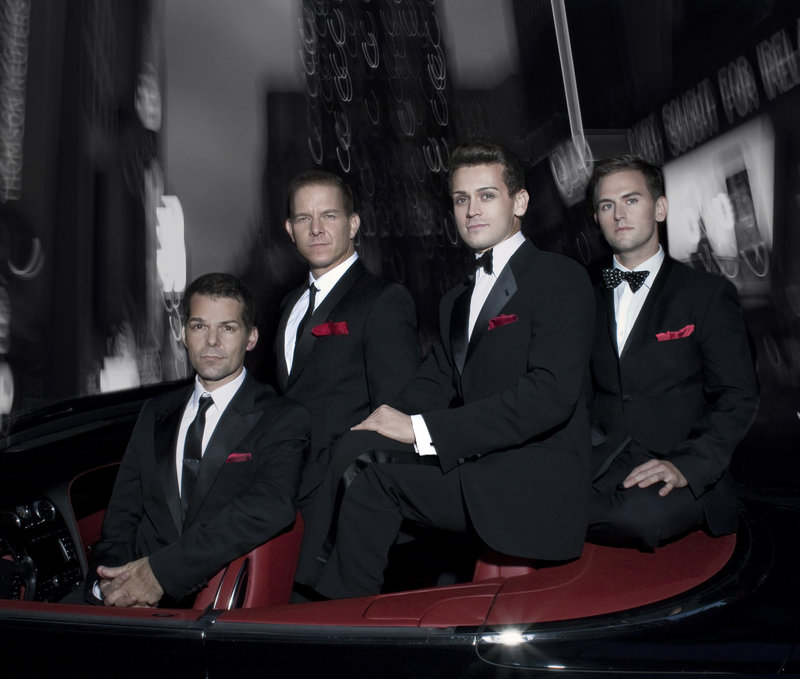 """The Midtown Men, singers from the original cast of the smash Broadway hit """"Jersey Boys,"""" perform music of The Four Seasons, The Beatles, The Beach Boys and more at Merrill Auditorium on Thursday."""