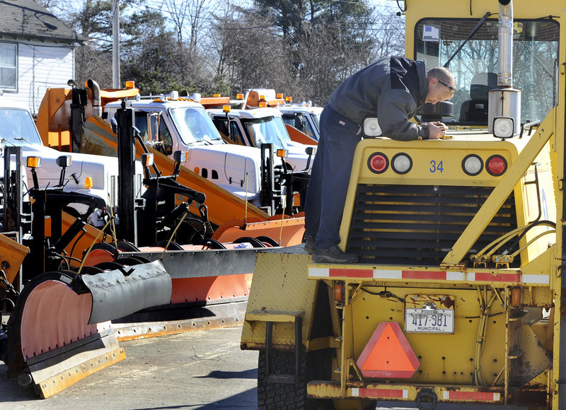 South Portland Public Works Dept. is busy preparing for the snowstorm..