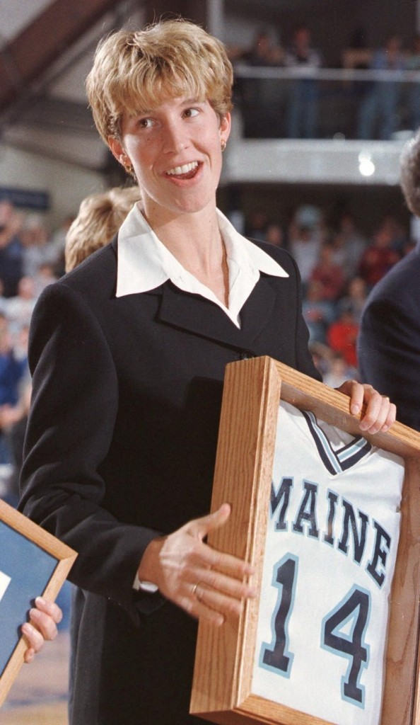 Cindy Blodgett went from Lawrence High to UMaine to the WNBA, but the Bangor Auditorium is her favorite.