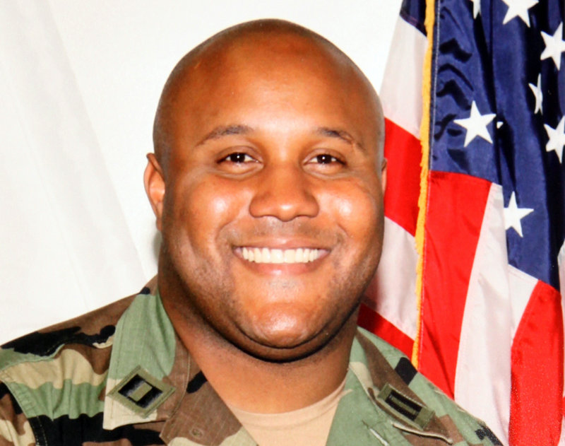 An undated photo released by the Los Angeles Police Department shows 33-year-old Christopher Dorner. On Sunday, the fourth day of a search for Dorner, police announced a $1 million reward for information leading to his capture.