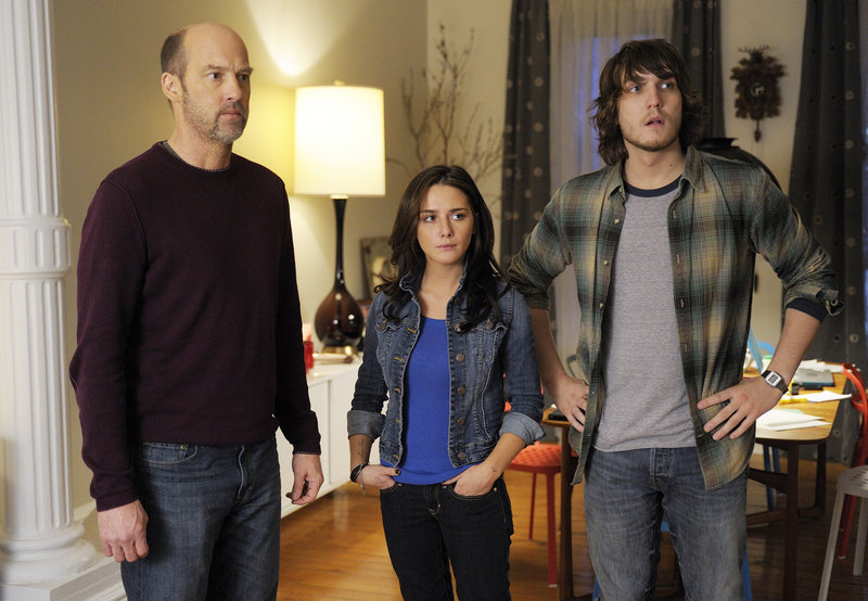 "Anthony Edwards, left, Addison Timlin and Scott Michael Foster are shown in a scene from ""Zero Hour,"" which premieres Thursday on ABC."