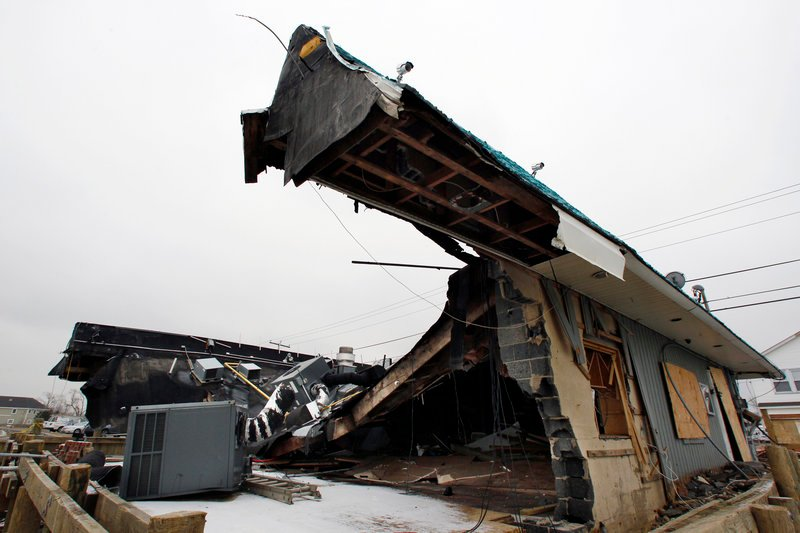 Jakeabob's Bay restaurant in Union Beach, N.J., is just one example of the devastation caused by Superstorm Sandy.