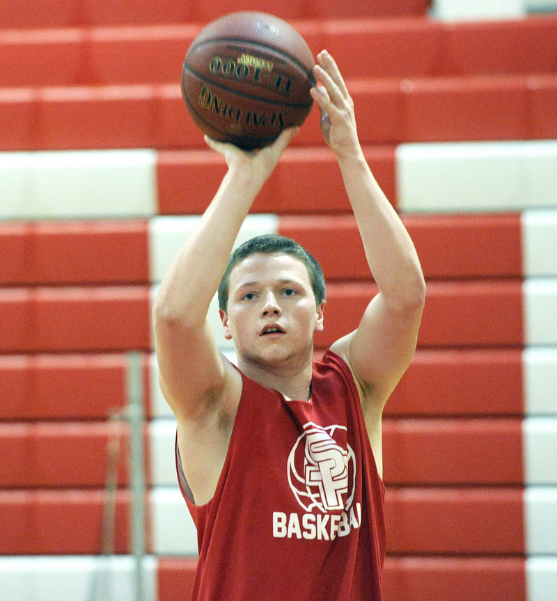 Conner MacVane played football for South Portland High, which proved a perfect preparation for basketball. He's ready to dive after loose balls, plus, despite being shorter than other players, makes room for himself in the paint to chase after rebounds.