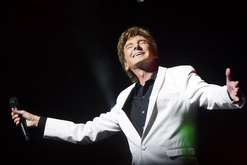 """Barry Manilow performs at his show """"Manilow on Broadway"""" on Jan. 29 in New York. """"I'm still hungry. I've still got a million ideas. I'm still strong and ready to create,"""" the 69-year-old, who has sold 80 million albums, said in a recent interview."""