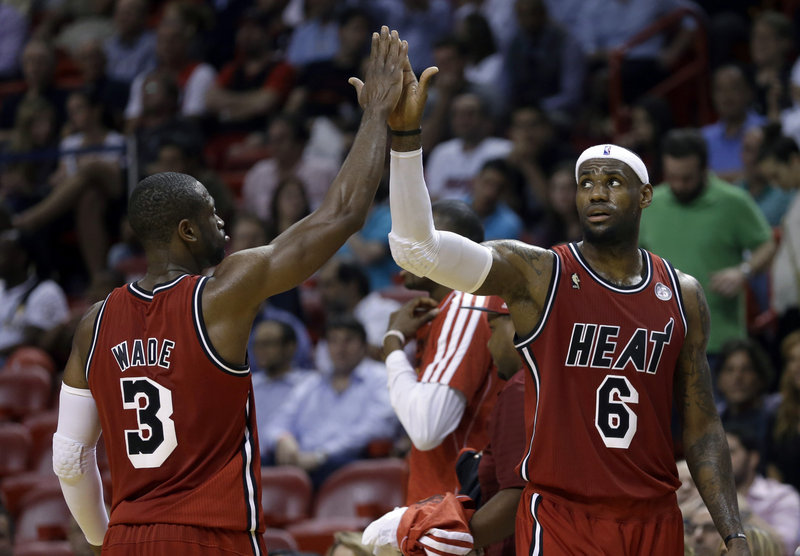 LeBron James, right, and Dwyane Wade have the Miami Heat playing some of their best basketball seven years after the two played in the All-Star game in Houston. Both are back in the city for this year's All-Star game.