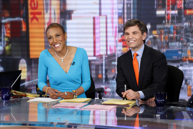 Robin Roberts and George Stephanopoulos on