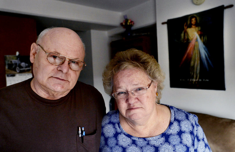 Louis and Katherine Bourgoin of Lewiston are two of the more than 6,000 Mainers who face losing health care provided through Medicaid. A federal lawsuit filed this week names the Bourgoins and three other Mainers who are disabled or low-income.