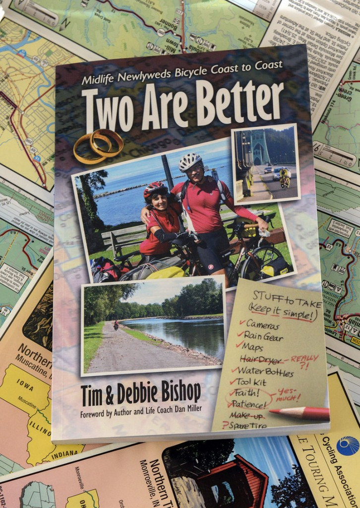 "Tim and Debbie Bishop wrote ""Two Are Better"" about their 3,529-mile trek and their new marriage."