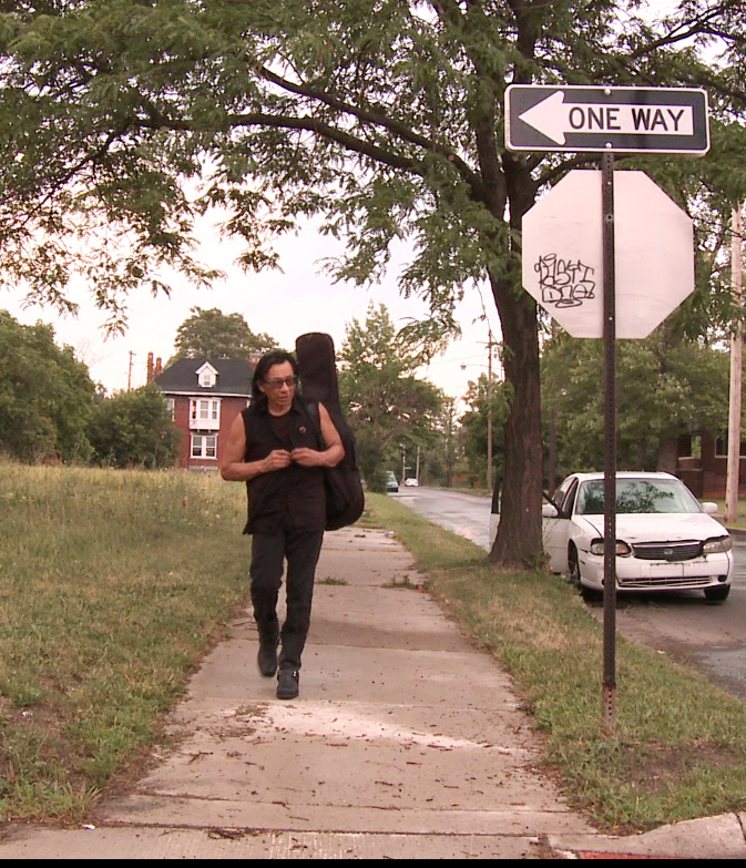 "Sixto Rodriguez, shown in Detroit in a scene from the Oscar-nominated documentary ""Searching for Sugar Man,"" has become a symbol for the rights of wronged musicians."
