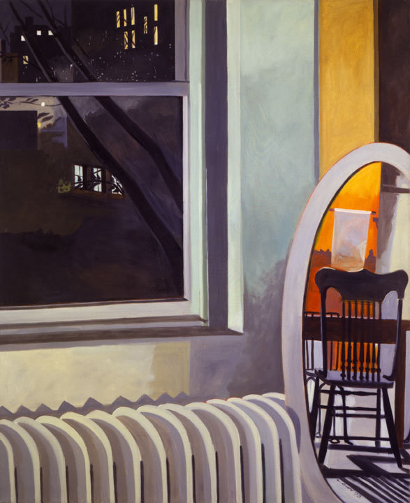 """Night Sky Loft,"" 1972-73 oil on linen by Lois Dodd, from ""Catching the Light,"" the exhibition of her work continuing through April 7 at the Portland Museum of Art."