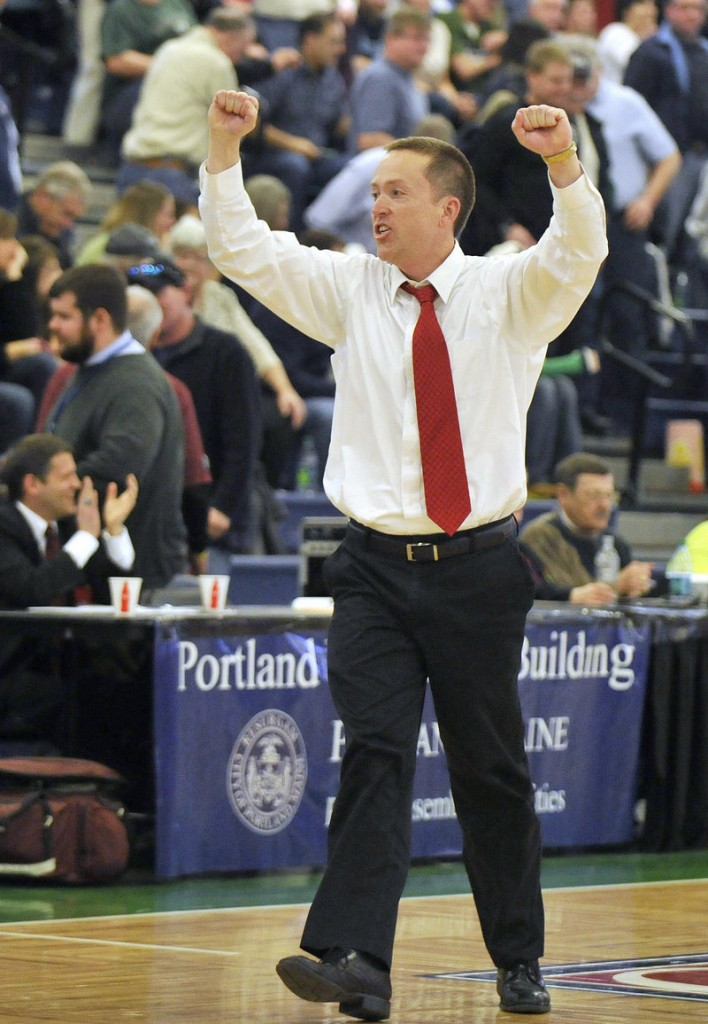 South Portland basketball coach Phil Conley